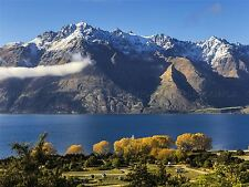 PHOTO LANDSCAPE LAKE WAKATIPU NEW ZEALAND MOUNTAIN SCENIC POSTER PRINT BMP10726