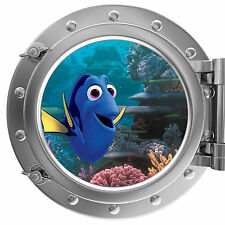 Finding Nemo - Dory On Coral Reef PortHole Wall Sticker