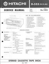 Hitachi  Original Service Manual für D- 555