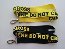 2 CRIME SCENE DO NOT CROSS LANYARD, NEW, 21 INCHES, FAST FREE SHIPPING.