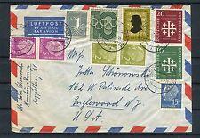 Luftpostbrief BRD MiF unter anderem mit Mi.-Nr. 235+236 - b3021