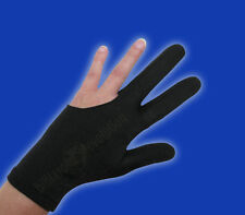 Black Billiard Glove - Size Medium - Double-Stitched Pool Cue Glove
