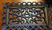 Beautiful Decorative Dark Brown Scroll Work Cast Iron/Glass Footed Tray