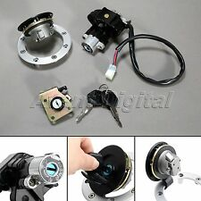 Ignition Switch Gas Cap Cover Seat Lock Key For 1997-1999 Suzuki GSX-R 750 700