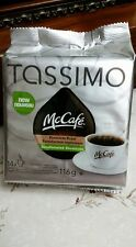 New Tassimo McCafe Premium Meduim Roast Decaffeinated Coffee 14X Cups