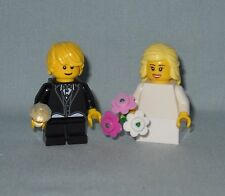 ***NEW LEGO WEDDING BLONDE FLOWER GIRL AND RING BEARER MINIFIGURES, MINIFIGS***