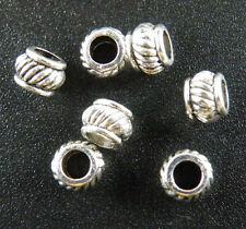 200pcs Tibetan Silver Bail Style Spacer Beads 5.5x4mm 8861