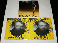 BRYAN ADANS 45 RECORD LOT RUN TO YOU & SOMEBODY A & M 1980'S