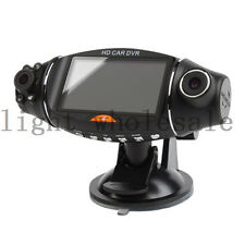 "270° 2.7"" TFT Dual Lens Dash HD DVR Car Camera Cam Video Recorder G-sensor GPS"