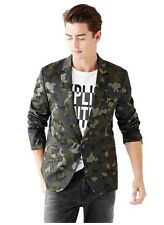 $178 Guess Mens Coat Camouflage Print Blazer Invasion Green Size S