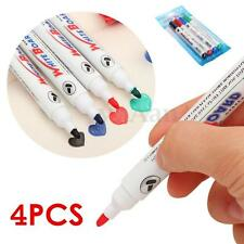 4 Color Set Dry-Erase Wipe Whiteboard White Board Marker Pens Home School Office