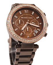 Micheal Kors Parker MK5578, Rare Chocolate Shade Chronograph Watch for Women