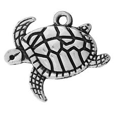 ❤ 10 x Tibetan Silver SEA TURTLE Charm 20mm Jewellery Making UK Stock ❤