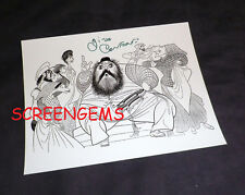 "Gino Conforti signed ""Fiddler on the Roof"" Hirschfeld print 8x11 Broadway RARE"
