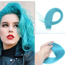 """5pc 20"""" Green Skin Weft Human Hair Extensions Salon Remy Seamless Tape Weft Hair"""