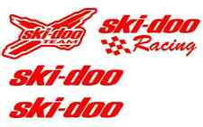 4 RED ski doo decal sticker rev xp mxz renegade summit gsx mach decals skidoo