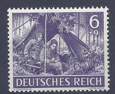 Nazi Germany Third Reich 1943 Nazi Army Soldiers Comm Tent 6+9 Stamp MNH WW2 Era