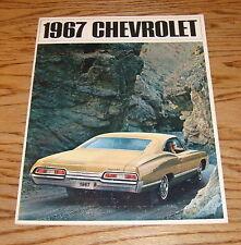 Original 1967 Chevrolet Full Size Car Sales Brochure 67 Chevy Impala Bel Air