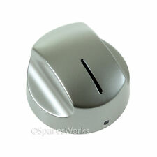 AEG Cooker Oven Hob Metal Control Knob Dial Switch Silver / Chrome Genuine