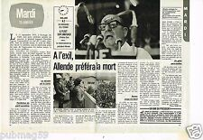 Coupure de presse Clipping 1980 (2 pages) Le Président Allende