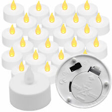 24x flicker LED amber LED button cell tealight candle dining table light