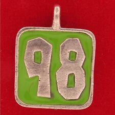 1998 ANNUAL Charm CALENDAR Marker GRADUATION 98 PEWTER REMEMBRANCE NUMBER 7507