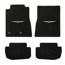 NEW! 2000-2010 Black Floor Mats PT Cruiser Embroidered Chrysler Crest Logo Set 4