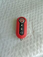 New Bright Red Case for FIAT 500 3 Button Remote Flip Key Fob  Free US Shipping