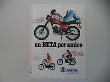 advertising Pubblicità 1982 MOTO BETA CUSTOM 240/MIO 50/M5 SPECIAL