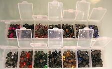 HOTFIX STARTER SET 1400 RHINESTONES 5MM SS20 IN 2 STORAGE BOXES MANY COLOURS