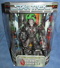 "Star Trek ALIEN COMBAT SERIES BORG DRONE:  9"" FINELY SCULPTED by ART ASYLUM  NEW"