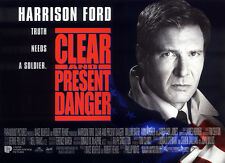 Original UK Mini Quad Poster Clear and Present  Danger Harrison Ford