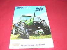 Deutz Fahr DX 4.70 DX 6.30 DX 6.50 DX 7.10 Tractor Dealer's Brochure 91 145 12