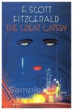 GG02 VINTAGE THE GREAT GATSBY by F SCOTT FITZGERALD POSTER A4 PRINT
