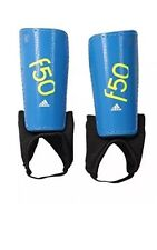 NEW Adidas Performance F50 Youth Shin Guards Blue Soccer Football Small Junior