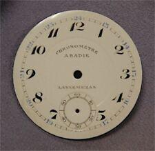 Cadran Fond de Montre à Gousset Email Emaillé Ancien Chronomètre Lannemezan 15