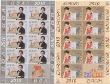 EUROPA 2010 CHESS EUROVISION NAGORNO KARABAKH ARMENIA 2 SHEETS OF 9 MNH R15053