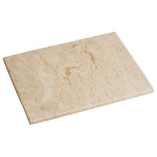 Large Heavy Beige Marble Kitchen Worktop Saver Food Cutting Chopping Board Block