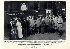Besichtigung des Malteser-Vereinslazarettzuges S2 zu Münster Bilddokument 1915
