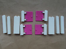 NEW LEGO 4 BRIGHT PINK SHUTTERS & 6 MIXED WHITE WALL SECTIONS FRIENDS HOUSE CITY