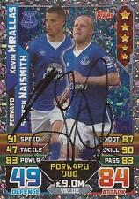 KEVIN MIRALLAS & STEVEN NAISMITH SIGNED 2015/2016 MATCH ATTAX TRADING CARD+COA