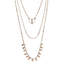 Delicate Geometric Designs Versatile Terra Layering Necklace Feather Bells Dot