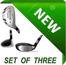 WOMENS Made NEW Hybrids Set of 3 Taylor Fit #6 #7 #8 Graphite Rescue Iron Woods