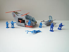 CODE ZERO MATTEL BLUEBIRD ZERO HOUR Kestrel chopper and snipe fighter set