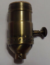 New 3-way Uno Thread Antique Brass Early Electric Industrial Style Lamp Socket