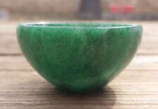 NATURAL GREEN JADE STONE HAND CARVED GEMSTONE BOWL [38]