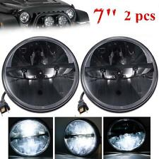 2pc 7'' LED Headlights 40W  Driving Fog Lights For Hummer Jeep Wrangler CJ TJ JK