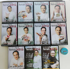 11 DVD Cocina Facil de FERRAN ADRIA/elbulli ORIGINAL /Spanish Chef Home Cooking