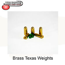 5 x 5g brass texas weights carolina rig worm fishing perch,pike,bass,wrasse,chub