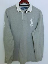MR842 Men Ralph Lauren Cotton Polo Neck Long Sleeves Rugby Shirt Size XL